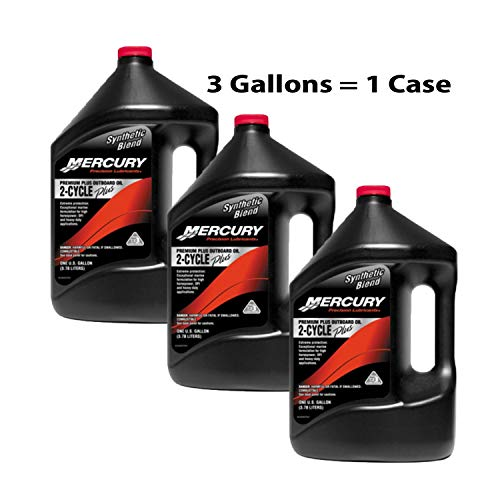 OEM Mercury Premium Plus Synthetic Blend TCW-3 Outboard Oil Case of 3 Gallons