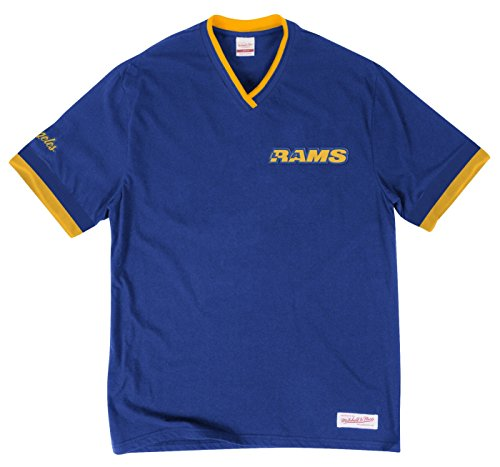 (Los Angeles Rams NFL Men's Overtime Win Vintage V-Neck T-Shirt (Medium))