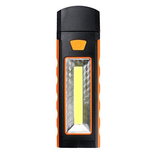 Solar Hand Crank Ultra Bright 3 LED Flashlight (ORANGE) - 5