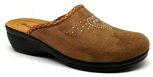 Inblu pantofole ciabatte invernali da donna art. BJ-69 marrone