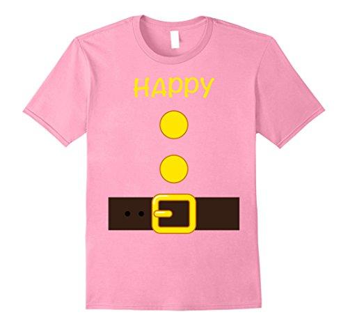 Mens Halloween Dwarf Costume Team Shirt Happy Matching T-shirts XL Pink
