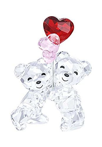 Swarovski Kris Bear, Heart Balloons - Kris Bear