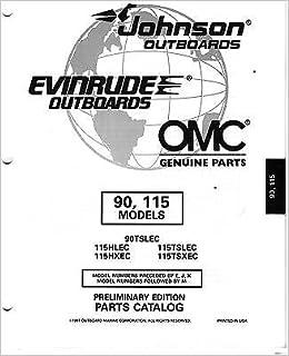1998 OMC JOHNSON EVINRUDE 90 & 115 HP PARTS MANUAL: Manufacturer