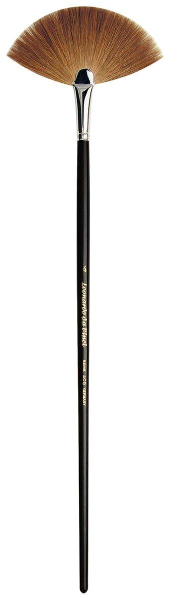 da Vinci Varnish & Priming Series 405 Fan Blender Brush, Kolinsky Red Sable with Black Polished Handle, Size 4