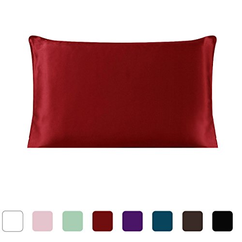 uxcell Mulberry Charmeuse Pillowcase Burgundy