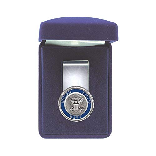 Mens Plated Pewter U.S. Navy Money Clip