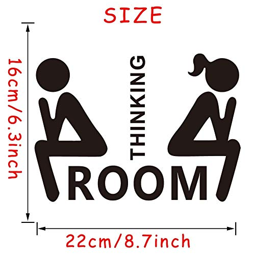 Iolanthe Equinox Wall Stickers - Mr. & Mrs. Quotes Toilet Door Sticker Fashion Bathroom Door Decals DIY Waterproof Wall Art Vinyl Removable Poster Home Decor 1 PCs