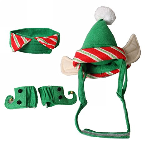 Costumes For Different Holidays (ZTL 4pcs/Set Dog Cat Christmas Costume Accessories Hat & Neck Wear & Leg Sleeve Party Cosplay Pet Supplies)