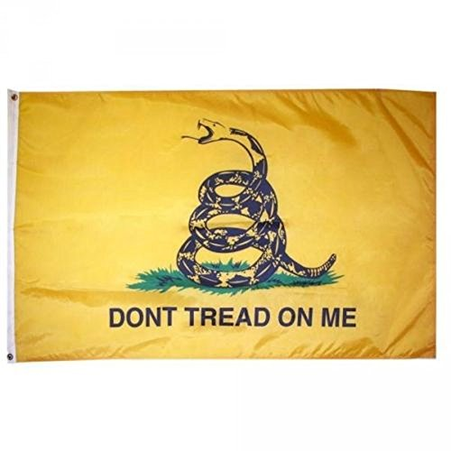 3x5 3ft x 5ft Gadsden Culpepper Tea Party Don't Tread on me Solarmax Nylon Flag