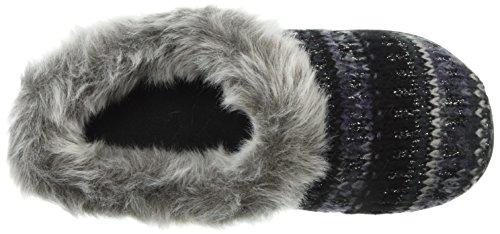 Women's Dearfoams Slipper Knit Black Wide Width Clog wwq4R