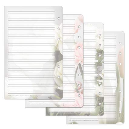 Compact Blooms Lined Pages - Pink/Green (Franklin Covey Green)