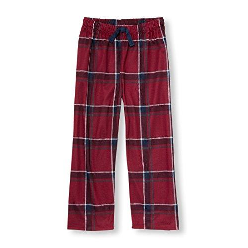 The Children's Place Big Boys' Pajama Pant, Burgundy, M (7/8)