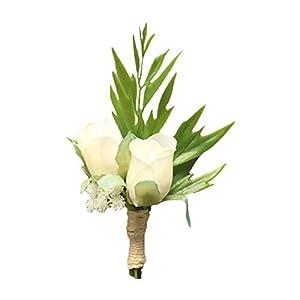 Cupcinu Boutonniere Bride and Bride Boutonniere Wedding Size: 12cm6cm Material: Silk Flower 85