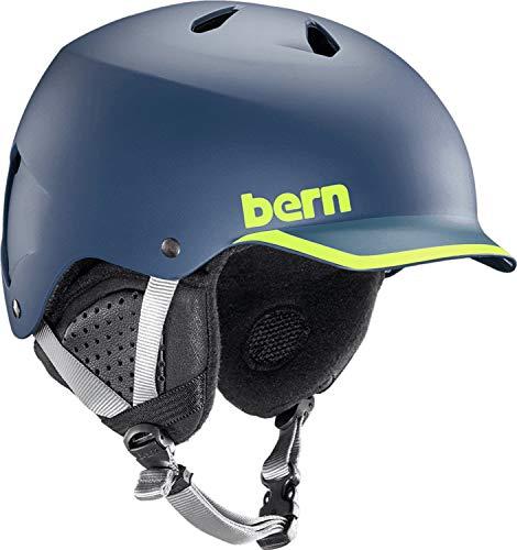 Bern Helmets Watts EPS Matte Navy/Hyper Green Trim - ()