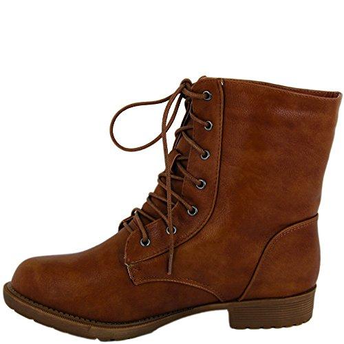 Unbekannt - botas estilo motero Mujer marrón claro
