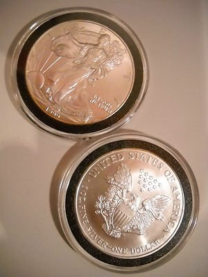 (1999 1 oz American Silver Eagle from the US Mint Gem BU in caps)