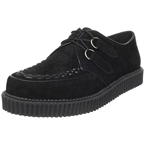 1 Inch MENS SIZING Creepers Black Suede Gothic Shoes Rockabilly Syle Size: 10