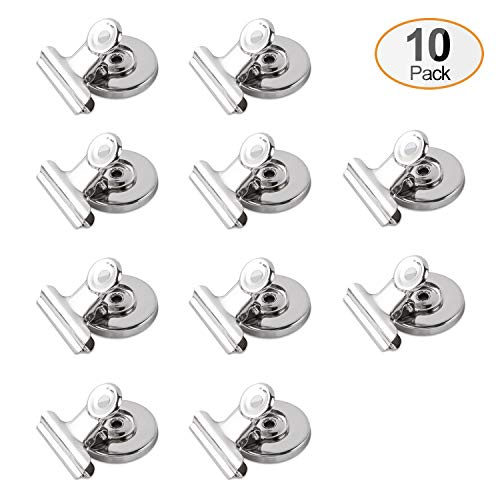 (X L MAGNET Fridge Magnetic Clips Heavy Duty Refrigerator Magnet Hook Clips for Photo Displays, Whiteboards, Locker, Fridge, Classroom, School, Office(10 Pack))