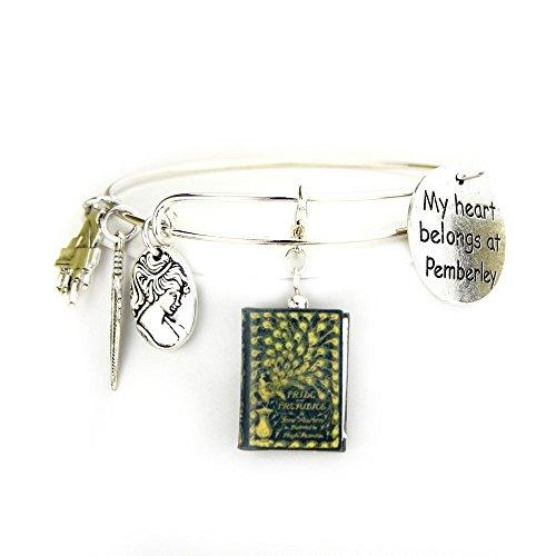 [Jane Austen's Pride & Prejudice Clay Mini Book Bangle Bracelet by Book Beads] (Last Minute Costume Ideas Diy)