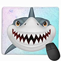 wodealmug Large Mouse Pad with Cute Animal Design Cartoon Shark with Teeth for Computer Office Gaming Gifts