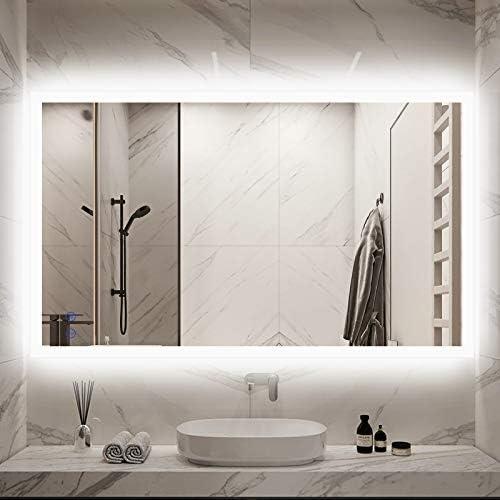 CITYMODA 40x24 Inch Lighted Bathroom Makeup Mirror