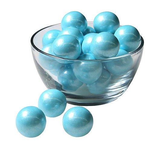 Sweetworks Celebration Candy Gumballs Bag, 8 oz, Shimmer Powder Blue -