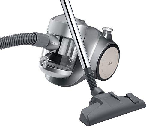 Ufesa AS2300 Activa – Aspirador sin bolsa, filtro EPA lavable, color gris plata y negro