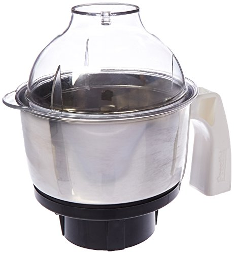 Preethi MGA-504 Stainless Steel Genie Jar for Eco Twin, Plus/Chef Pro and Blue Leaf, 0.5-Liter, Silver -  13000013