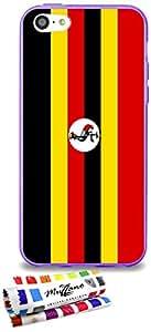 Carcasa Flexible Ultra-Slim APPLE IPHONE 5C de exclusivo motivo [Bandera ] [Violeta] de MUZZANO  + ESTILETE y PAÑO MUZZANO REGALADOS - La Protección Antigolpes ULTIMA, ELEGANTE Y DURADERA para su APPLE IPHONE 5C