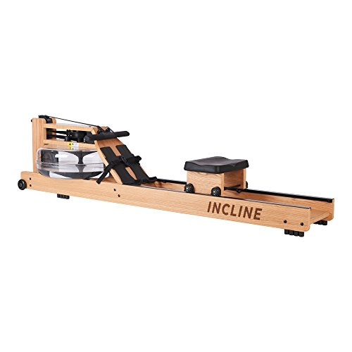 (Incline Fit Wood Water Rowing Machine with Monitor)
