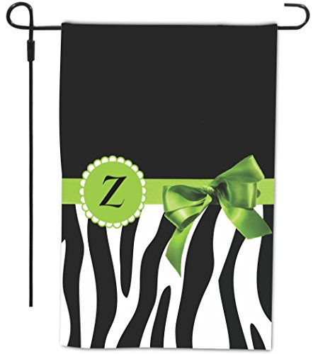 "Rikki Knight Letter "" Z "" Green Zebra Bow Monogram Design..."