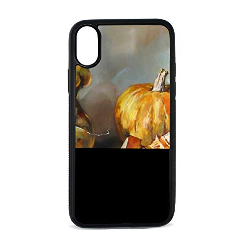 iPhone Pumpkin Vegetable Organic Decorative Crop Painting Art Digital Print TPU Pc Pearl Plate Cover Phone Hard Case Cell Phone Accessories Compatible with Protective Apple Iphonex/xs Case 5.8 Inch