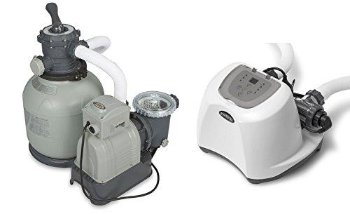 Intex 2800 GPH Sand Filter Pump & 15000 Gal Saltwater Chlorinator