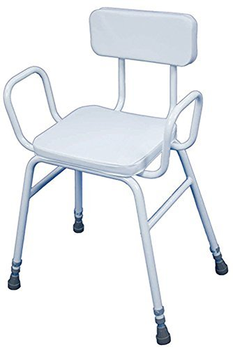 Aidapt Malling Perching Stool with Arms and Padded Back by Aidapt