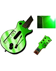 Green Chrome Mirror Vinyl Decal Faceplate Mod Skin Kit for Nintendo Wii Guitar Hero III 3 (GH3) by System Skins