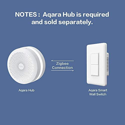 Aqara Smart Wall Switch (with Neutral, Double Rocker), Requires AQARA HUB, Zigbee Switch, Remote Control and Set Timer for Home Automation, Compatible with Alexa, Apple HomeKit, Google Assistant 41o8XnKp4rL