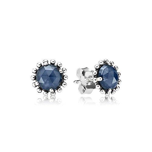 Authentic Pandora Midnight Star Stud Earrings Midnight Blue Crystal 290561NBC