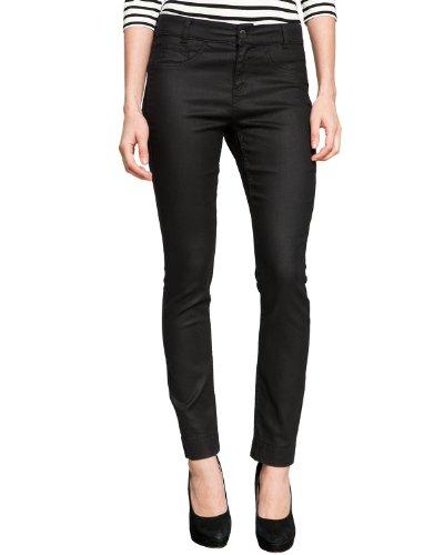 Comma - Pantalón slim fit para mujer Negro (9999 black)