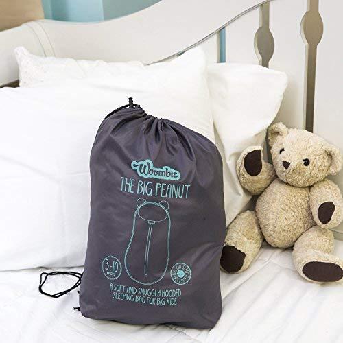 (チャコール/ピンク 3-10歳) B07G72GDJ5 Woombie   ビッグピーナッツ寝袋