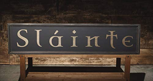 Decorative Wooden Sign Slainte Irish Pub Sign Gaelic Celtic Ireand Home Wall Art Plaque Craft Hanging Sign