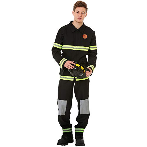 Boo Inc. Men's Five-Alarm Firefighter Halloween Costume | Fireman (L)]()