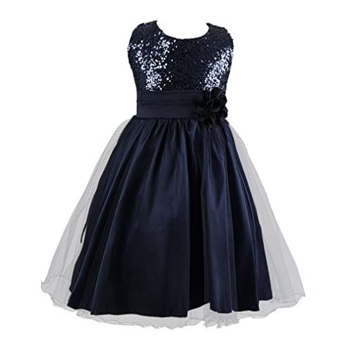 Live It Style It Girls Bridesmaid Flower Dress Sequinned Formal Wedding Party Christening Children Clothing Lace