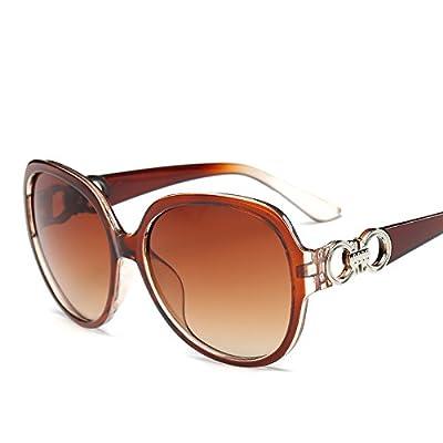 LXKMTYJ Mme Personnalité élégante et chic Grand Big Box dans un Dual-Ring Lunettes lunettes UV, thé, et