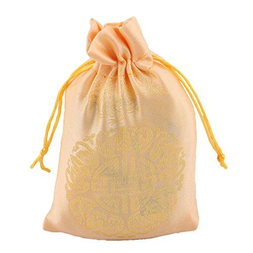 Amazon.com: eDealMax cordón Disfraces Caramelo Bolsa de la joyería monedero del brocado Bolsa de Regalo DE 13 x 10 cm 50pcs Dorado: Health & Personal Care