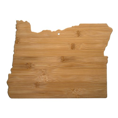 Totally Bamboo Oregon State Shaped Bamboo Serving and Cutting Board
