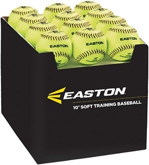 (Easton Case with Quantity of 36 Soft Training Balls, Neon, 10