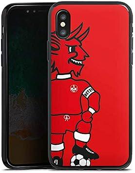 DeinDesign Silikon H/ülle kompatibel mit Apple iPhone X Case Schutzh/ülle 1 FC Kaiserslautern 1 FCK Offizielles Lizenzprodukt