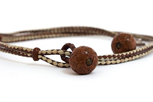 Leather Braided Belt - Braided Leather Accessories by Amor Et Gratia