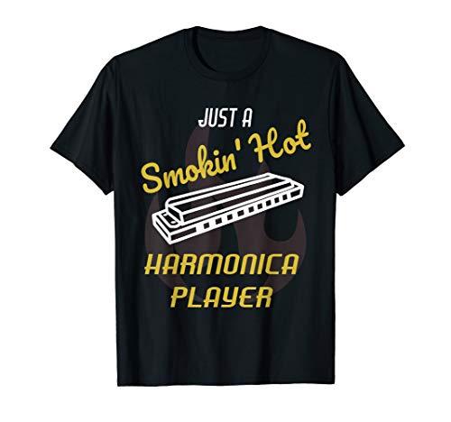 Harmonica Player T Shirt Jazz Blues Music Tshirt (Best Harmonica Player Ever)