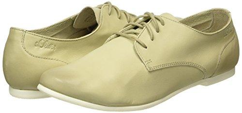 250 Derby Zapatos Cordones de Beige para s Nude 23207 Oliver Mujer ZRAqvSBSn